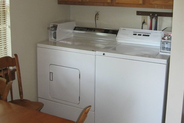 Free in-unit laundry area