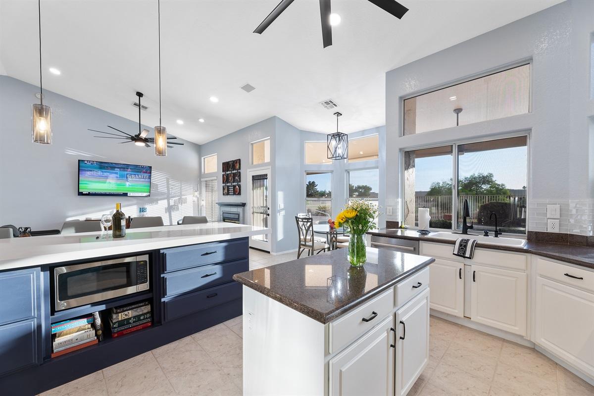 Large kitchen for socializing