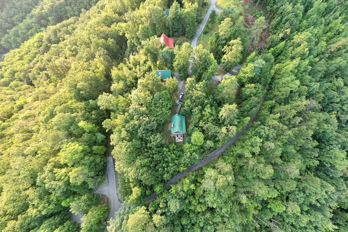 Aerial drone shot from recent guest
