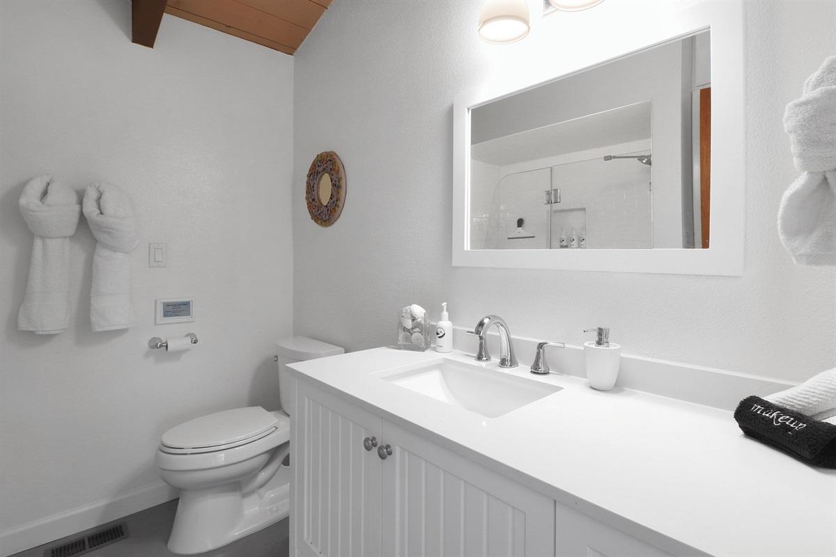 River Seascape Hallway Bath with Shower