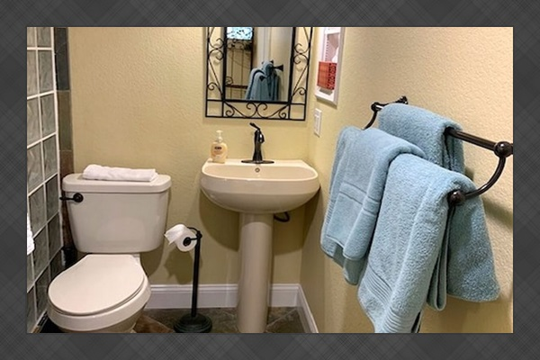 Commode and Shower to Master Suite