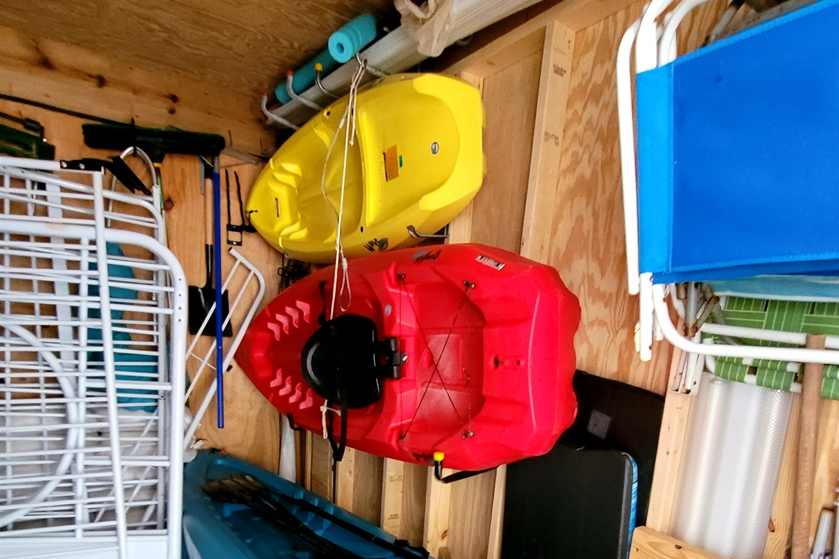 Kayaks available to rent