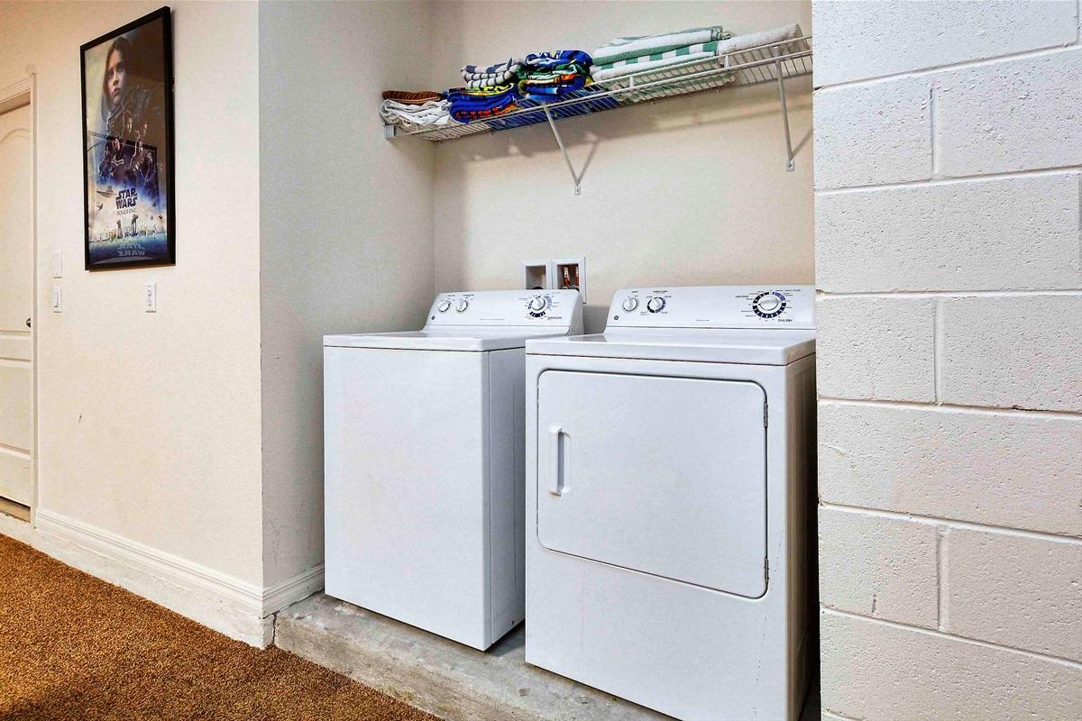 The laundry units.