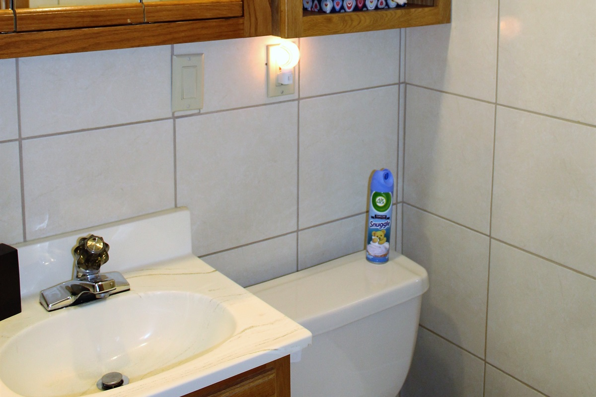 Plenty of storage in modern bathroom