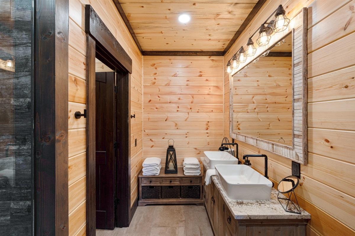 Upstairs Master Bathroom Area