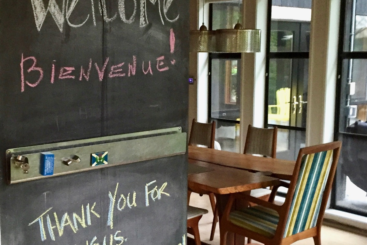 We have a couple of chalk boards - what a nice note!