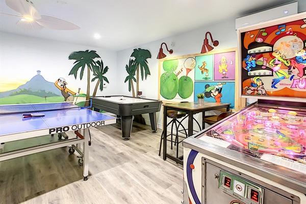 Play Ping Pong, Air Hockey, And Vintage Pinball