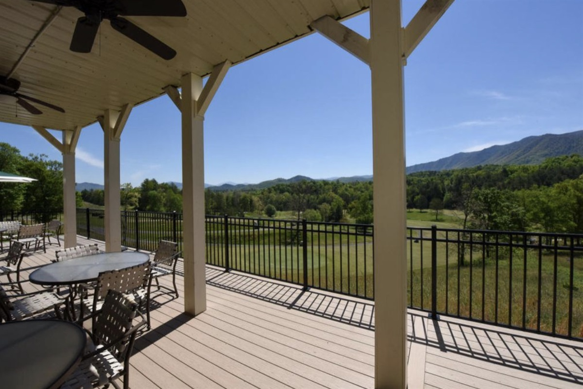 Views from the outdoor dining area