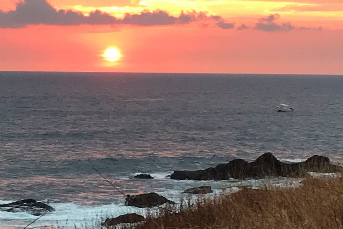 One of the amazing sunsets on the Junquillal cliff head known as Ron's point!