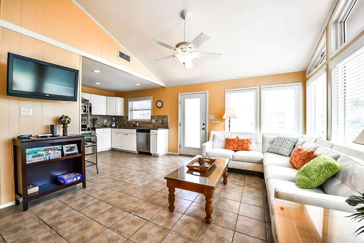 Living Area - Open Concept Floor Plan