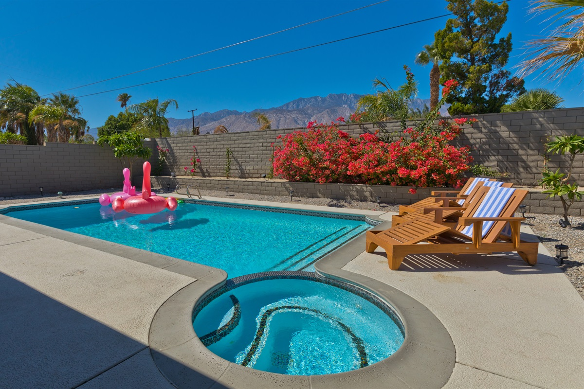 Get your tan on. Pool heating optional. Ask about floats if you'd like them.