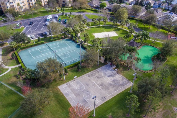 Sports courts throughout the resort.