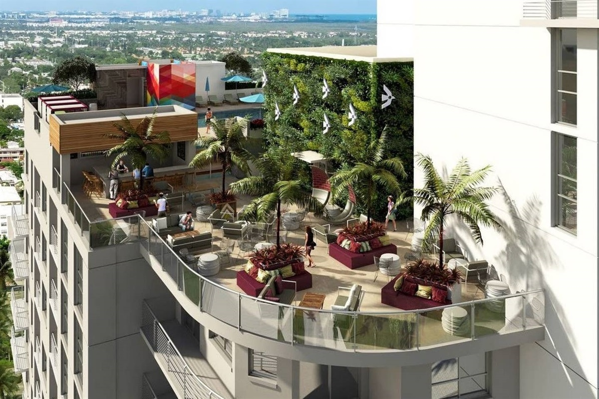 Hollywood's newest swanky 12th-story bar and lounge, overlooking The Young Circle!