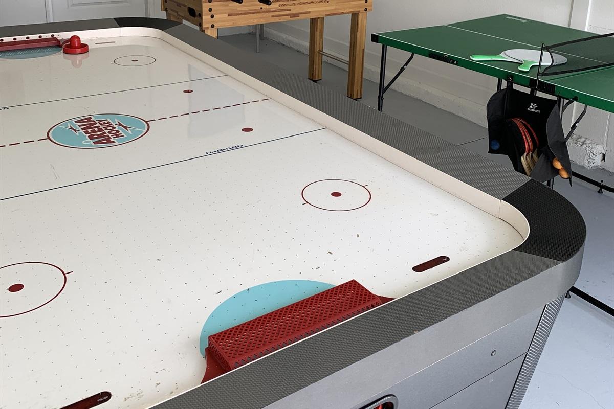 Air Hockey, Foosball, and Ping Pong