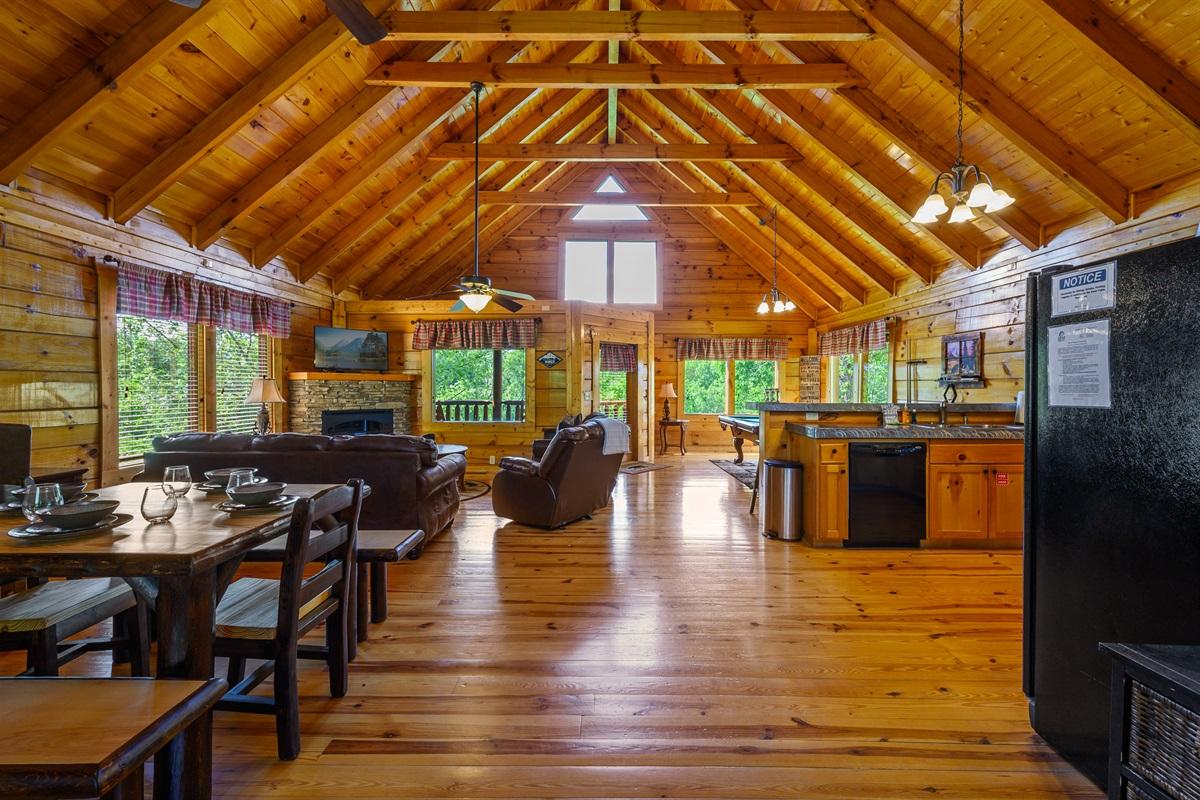 Our spacious main floor.