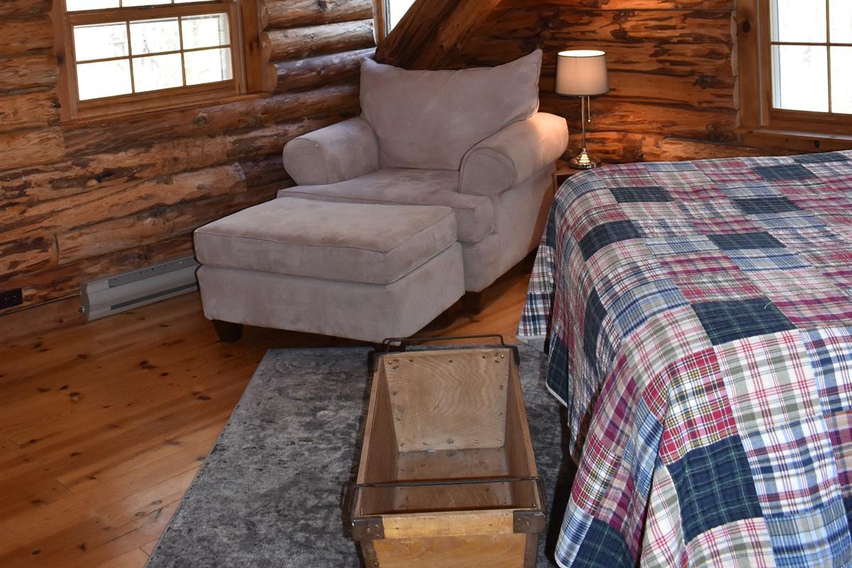 Master bedroom cozy reading area