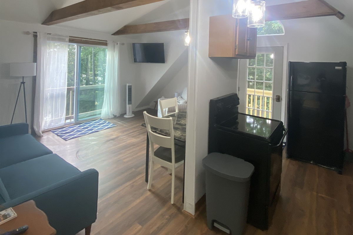 Upstairs kitchen/living room
