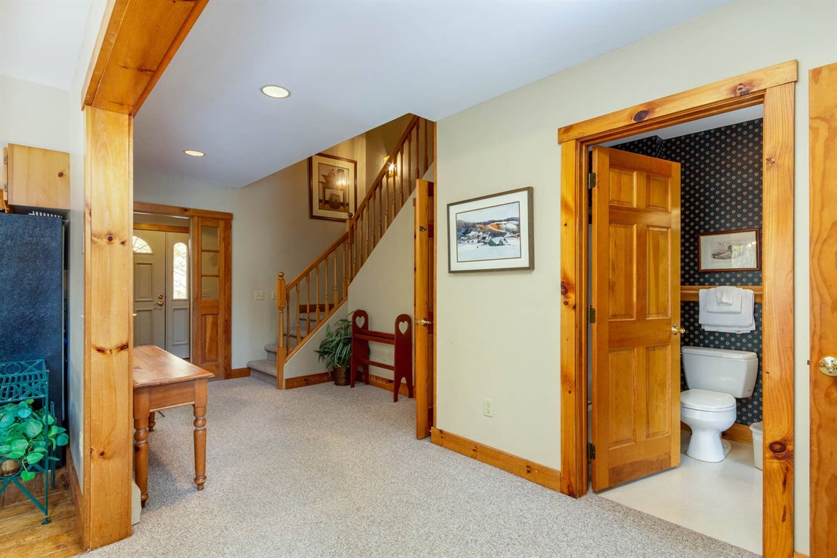 Large entrance hall, leading from mud room welcomes you to the home.