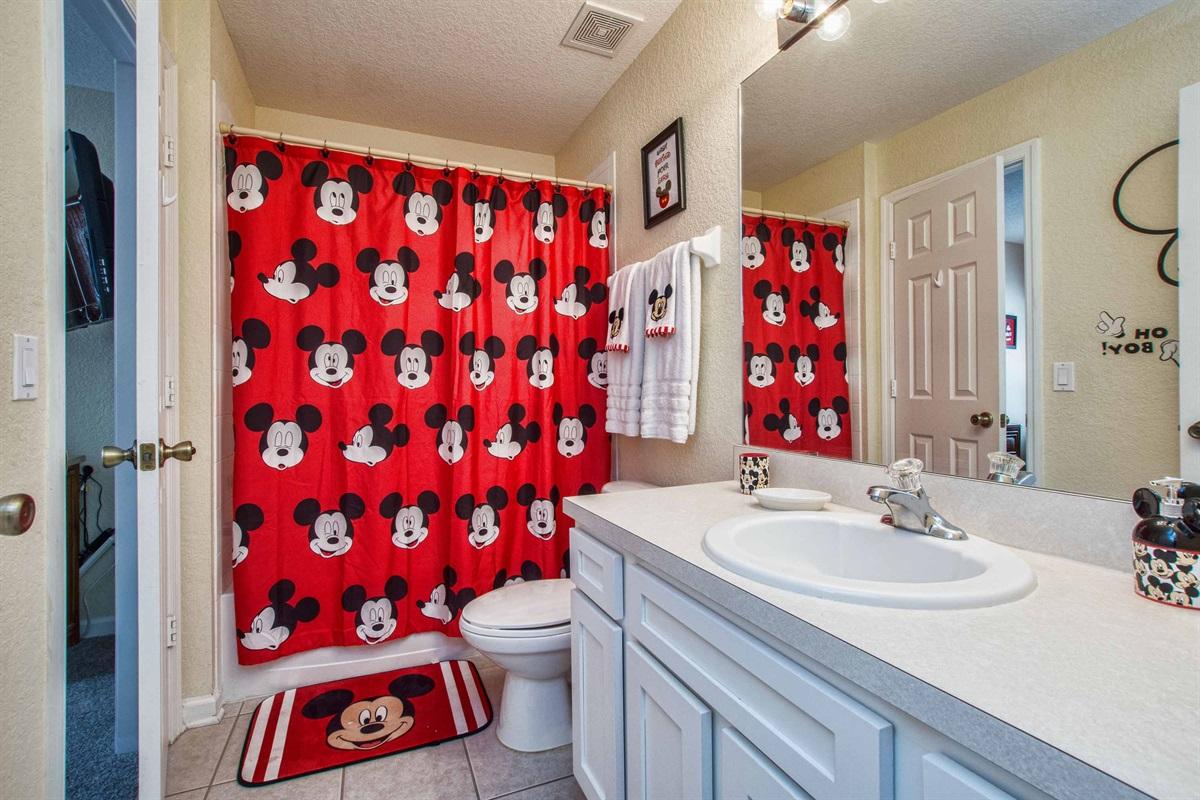 Mickey bathroom on the first floor.
