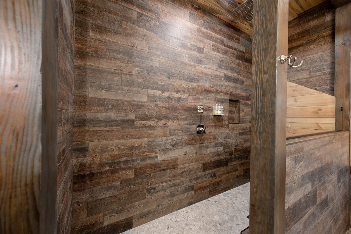 Downstairs Master Shower