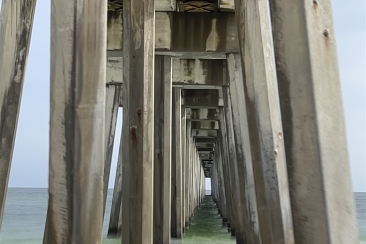 Walk under the pier