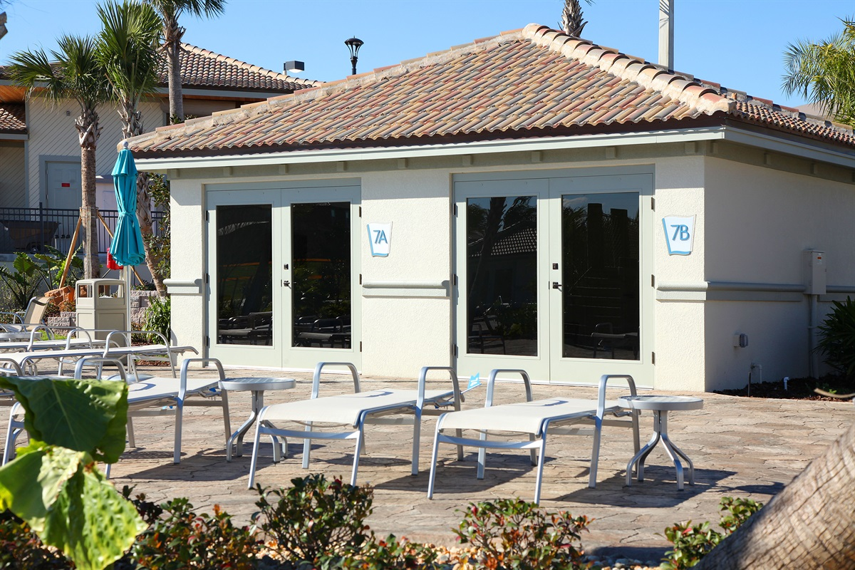 Poolside Air Conditioned Cabanas