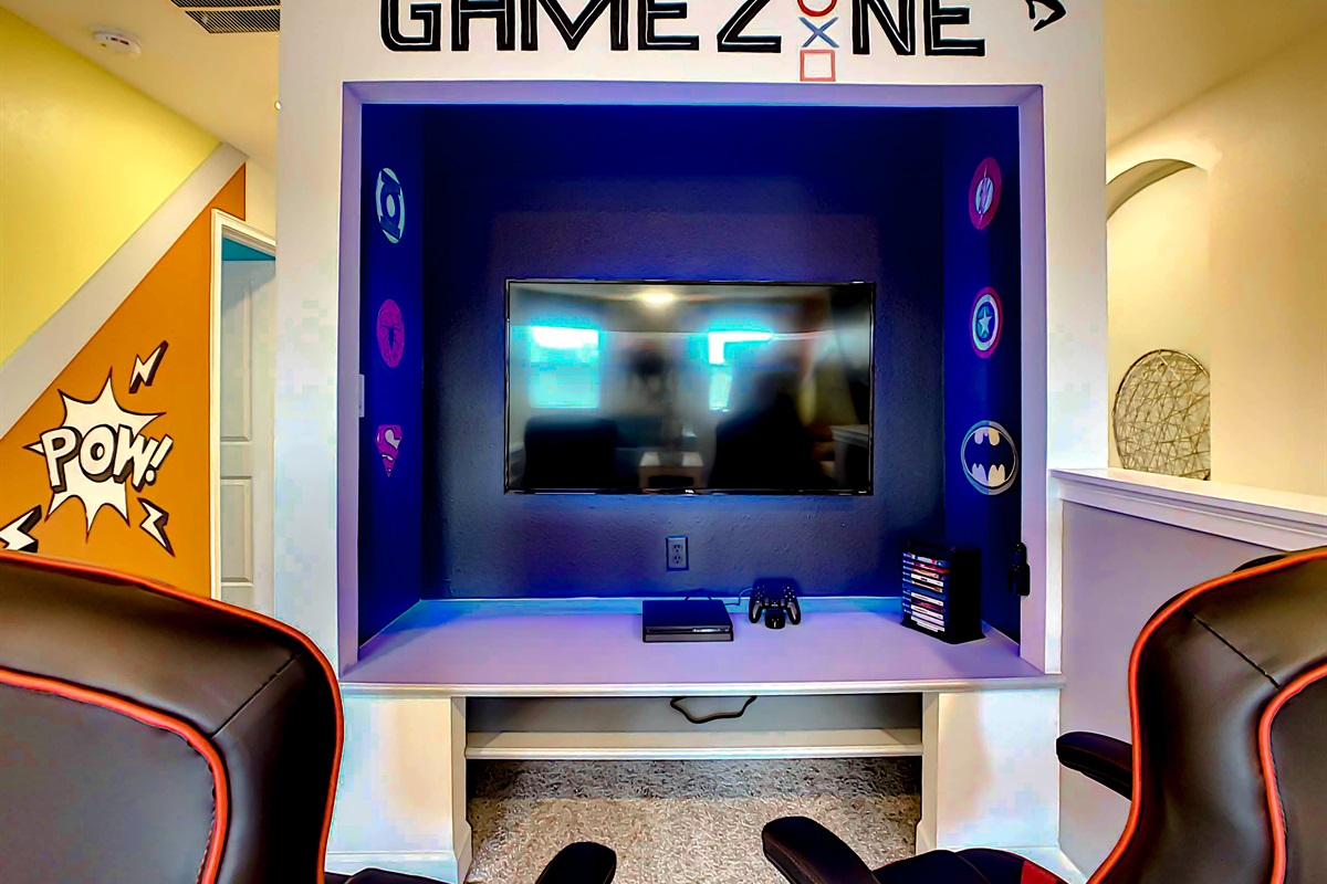 2 Game Rooms-1 Upstairs and 1 Down