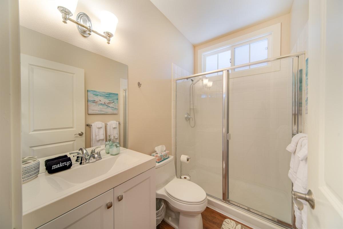1st floor bathroom one step away from bedroom #1