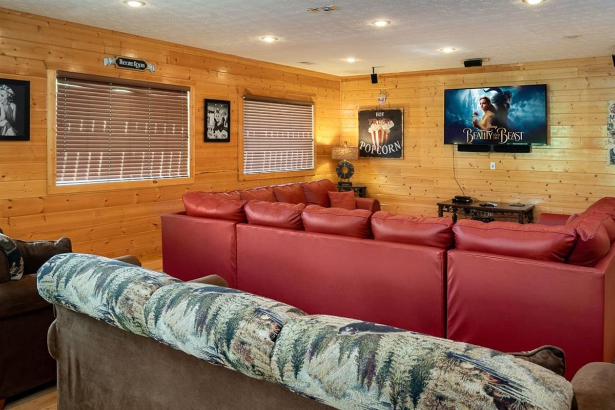 "Huge movie theater room with 60"" TV, XBox One X, large wet bar, fridge, etc."