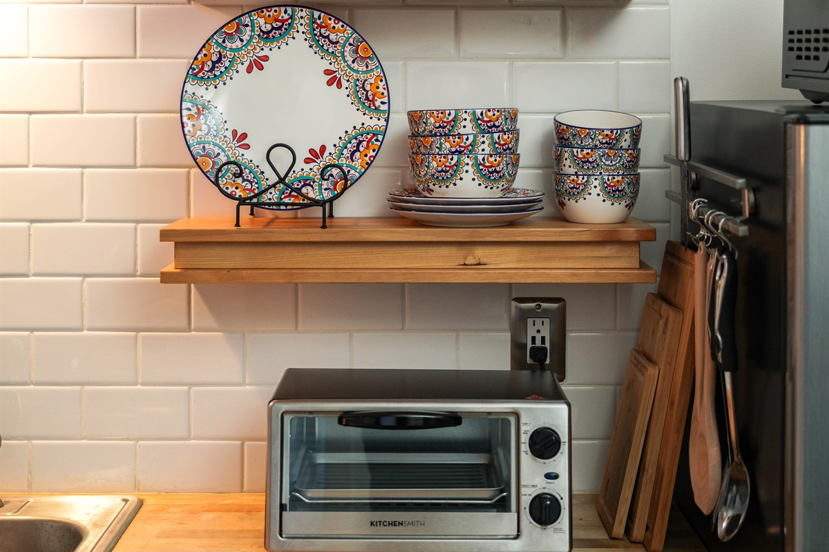 The kitchen has everything you need to prepare a hearty meal.
