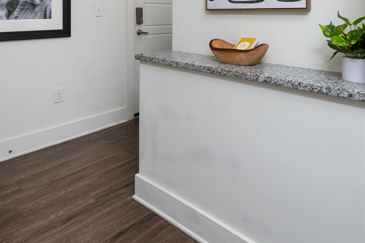 Entryway to your cozy apartment in Nashville