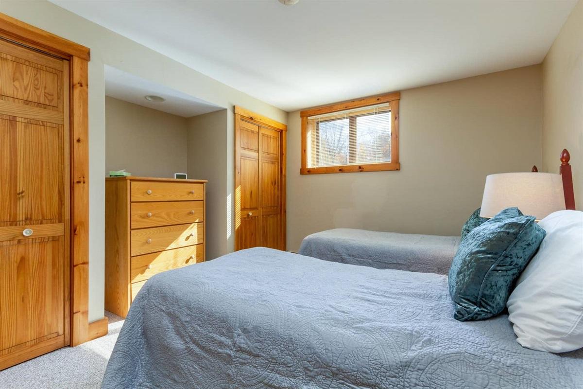 Basement:  Twin Bedroom with adjacent shared bathroom