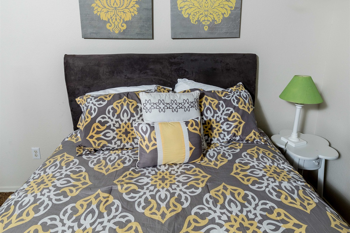 The second bedroom offers a comfortable queen bed!