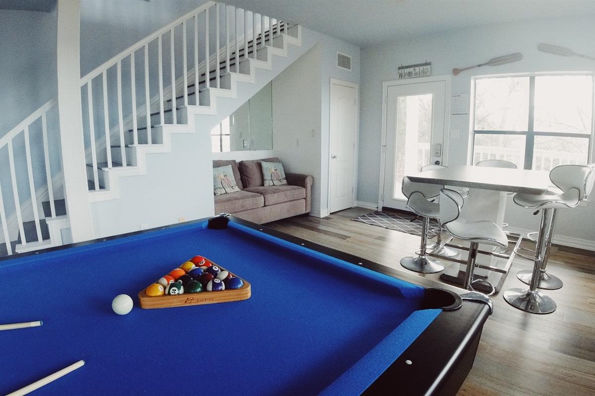 Basement game room. @ericaexploresamerica