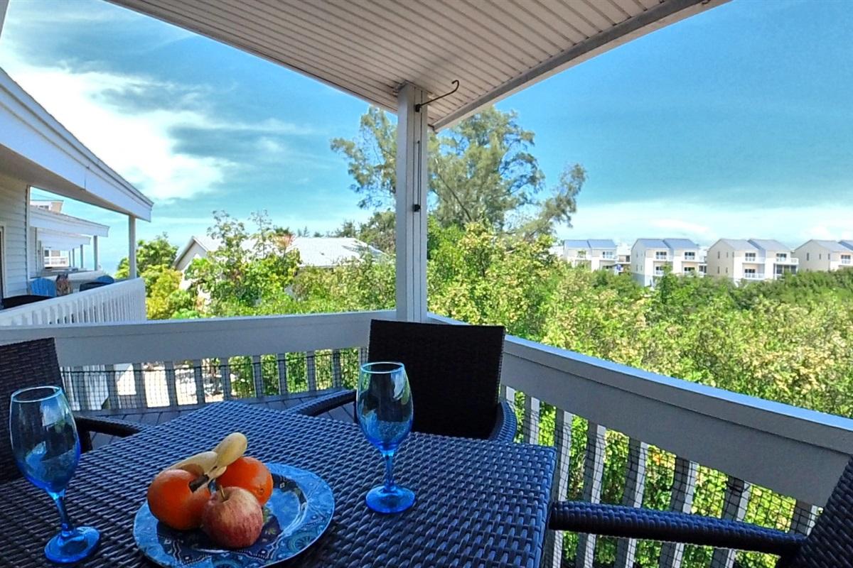 Enjoy Breathtaking Views from Covered Balcony