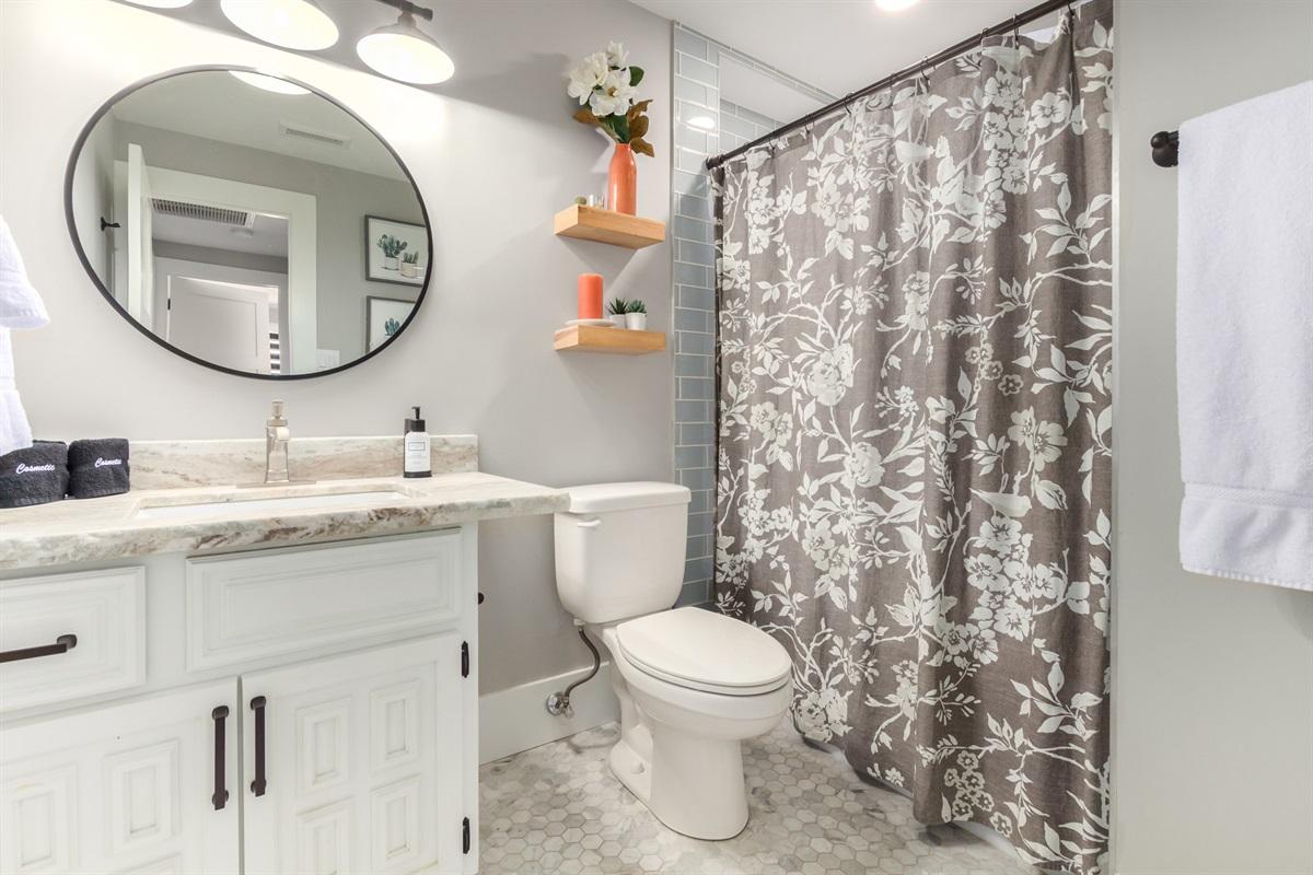 hall bath - shower/tub combo