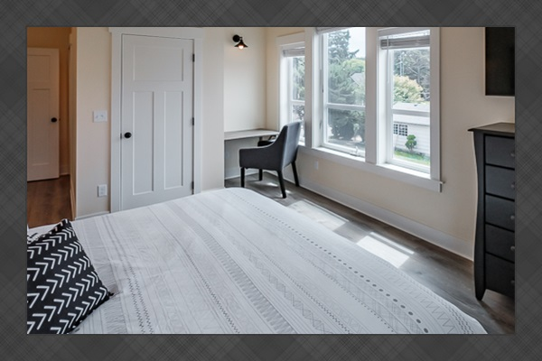 Work or study remotely with this private work nook.