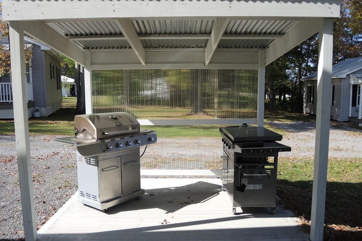 Creekside BBQ area