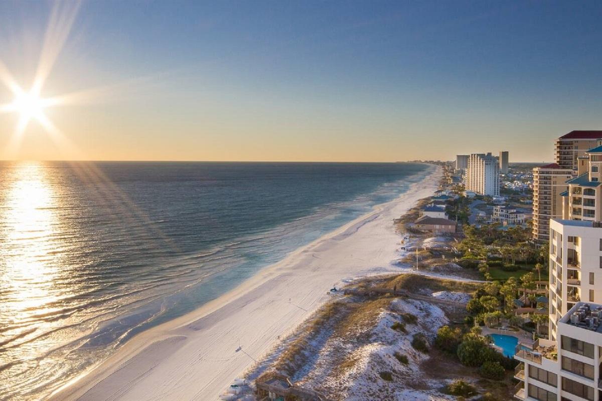 Gulf Beach at the Sandestin Beachside. Short ride with provided Tram pass