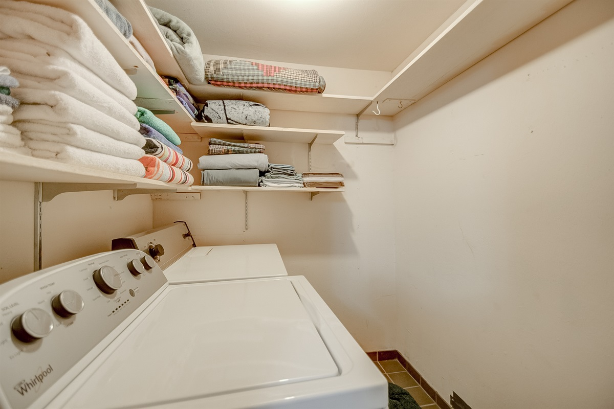 Laundry room, main level, off master