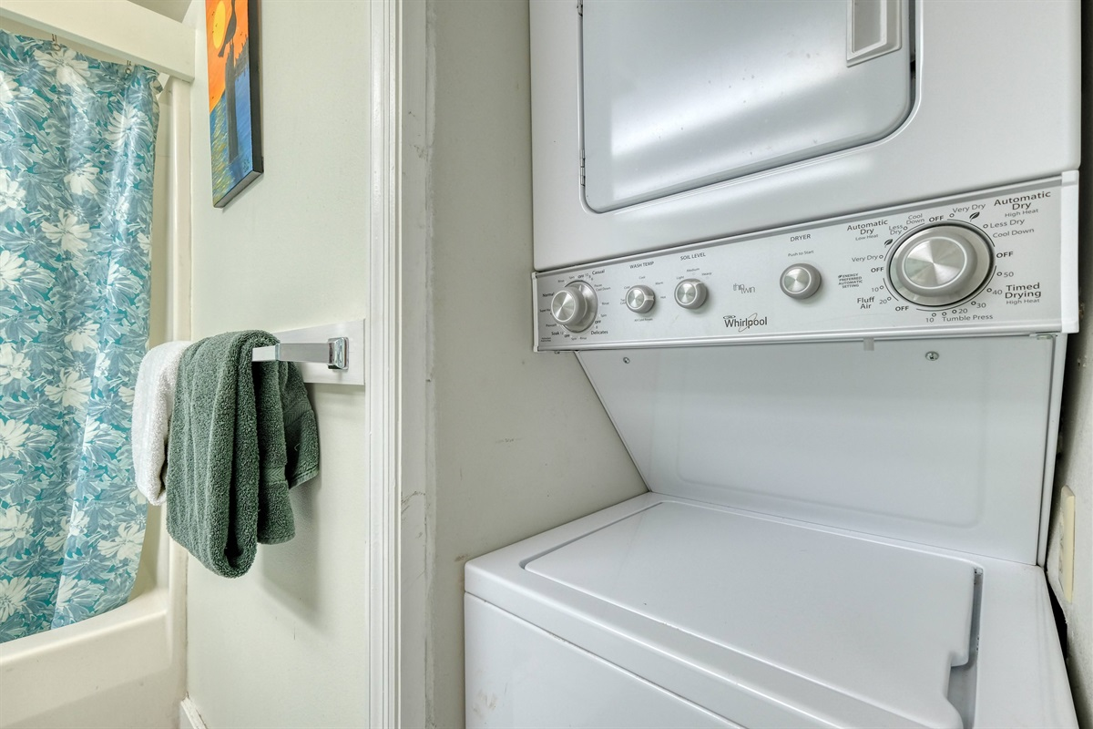 Washer and dyer for guest to use during stay