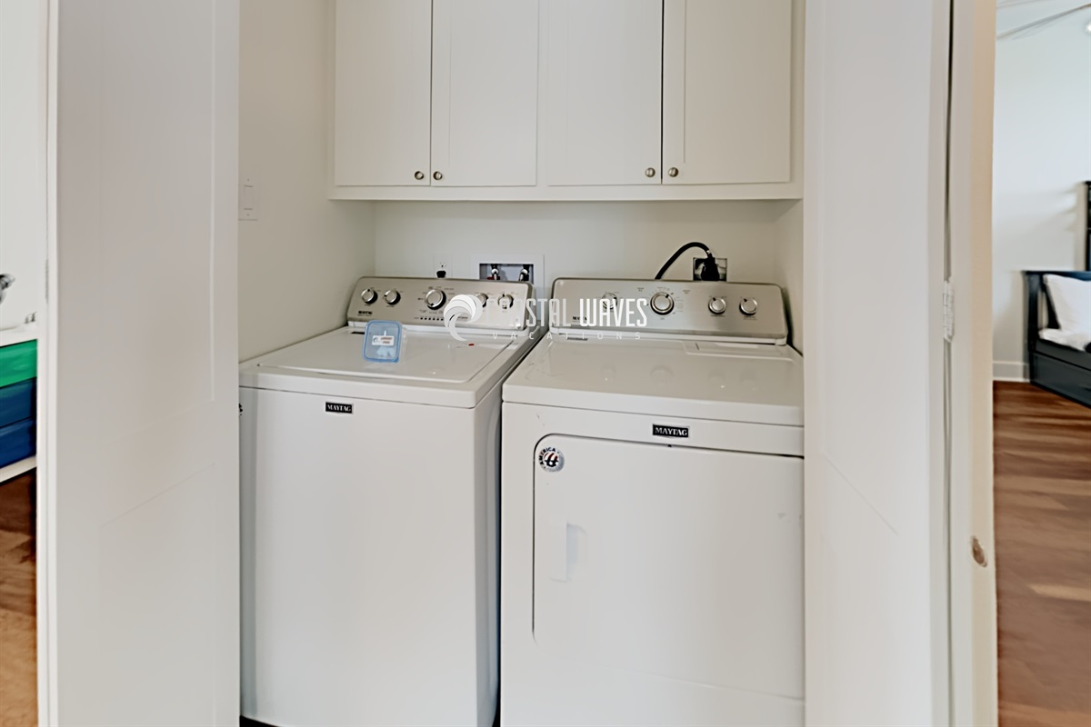 Laundry with full size W & D