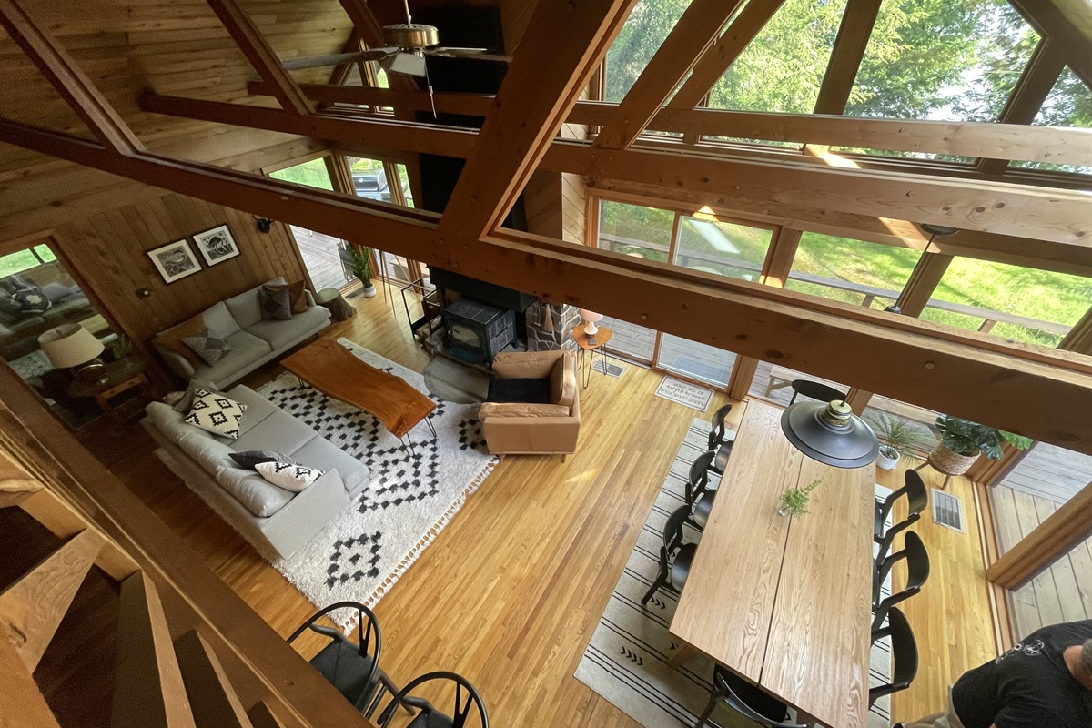 View Of Great Room From Loft