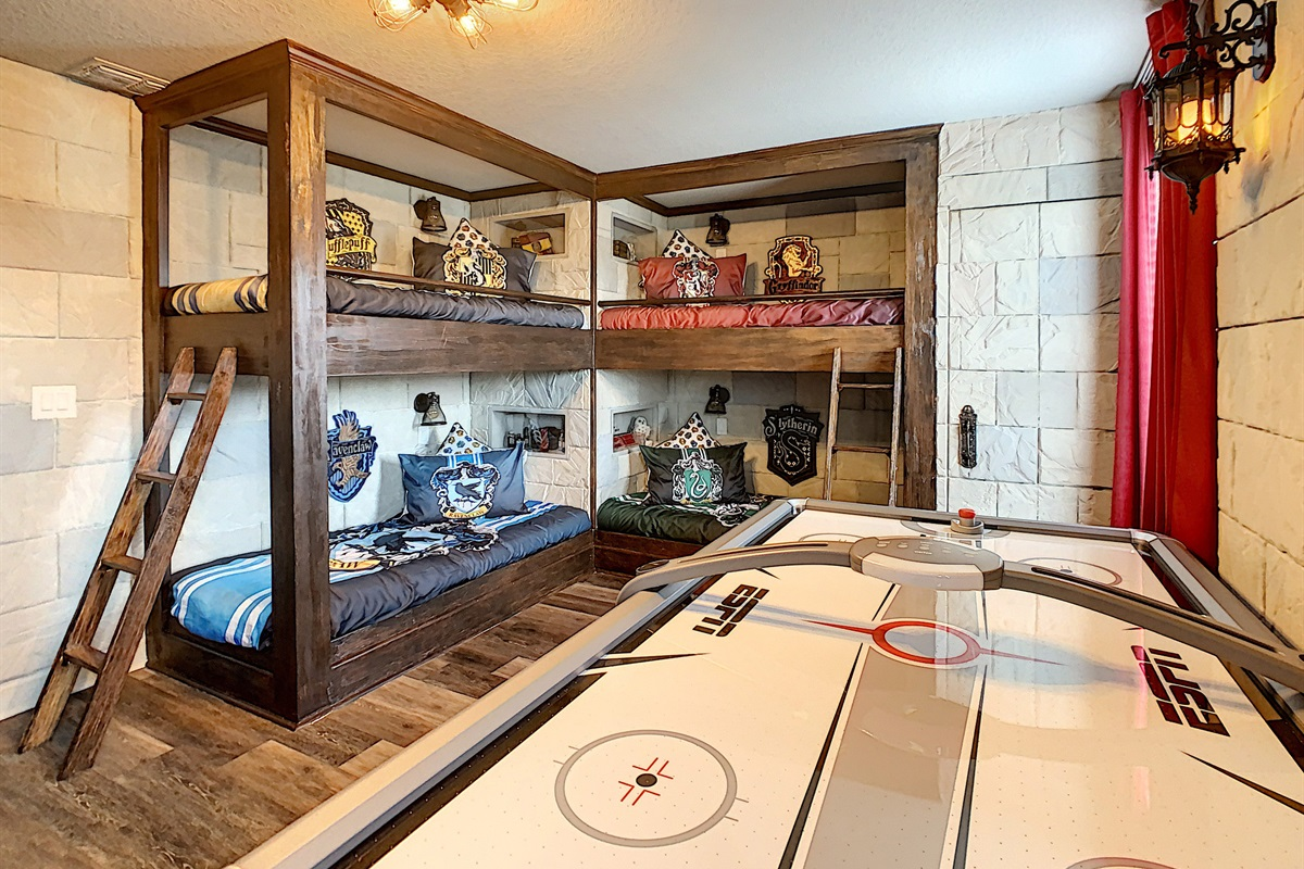 Combination Kids Bedroom/Game Room-2nd Floor-2 Bunk Beds-Air Hockey