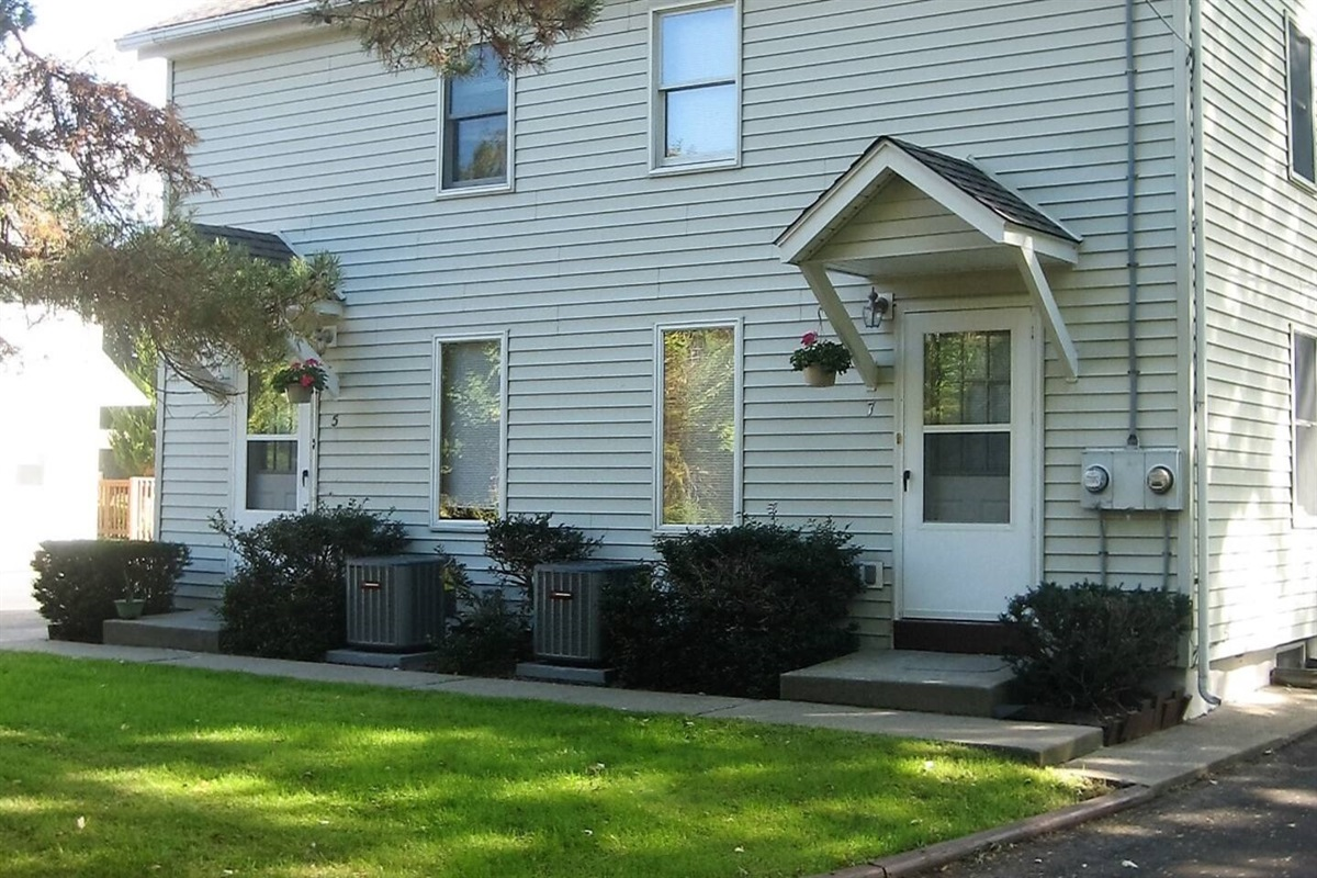 West Ann Duplex 5 is at the end of a quiet street and has central air conditioning