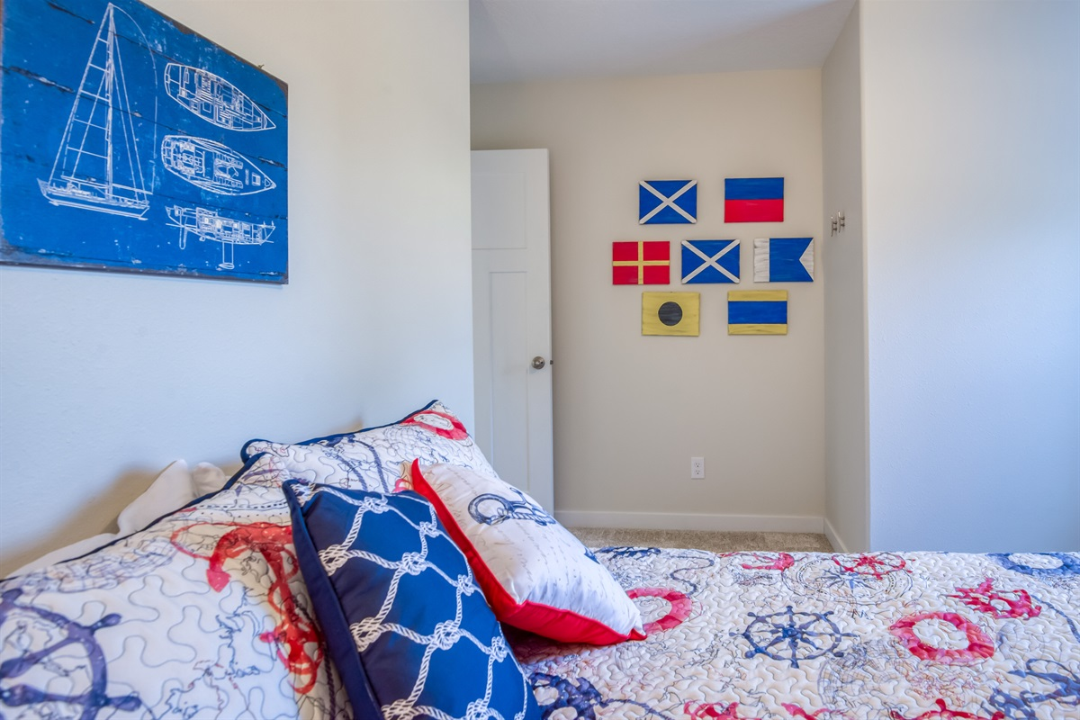 Full Size Bed - What do the flags Spell?
