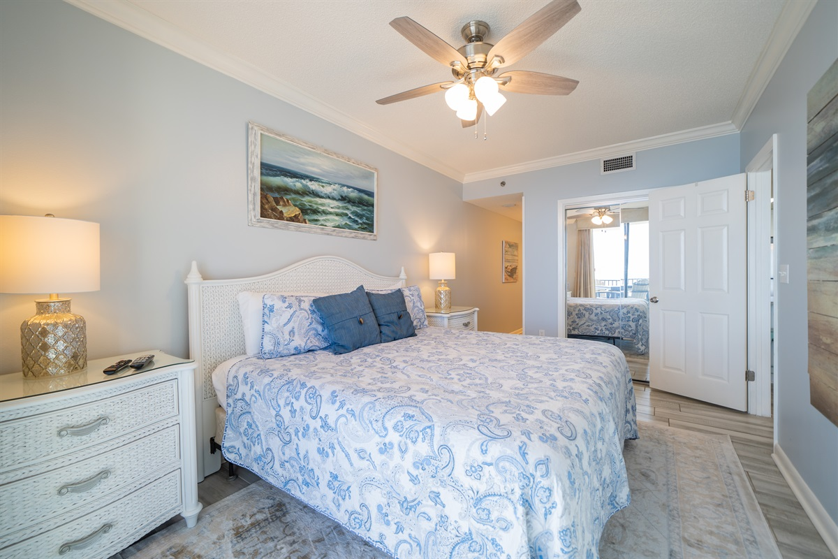 Spacious master with a king bed!
