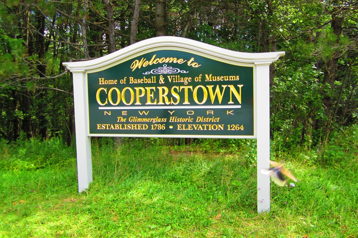 Just a short drive to Cooperstown NY