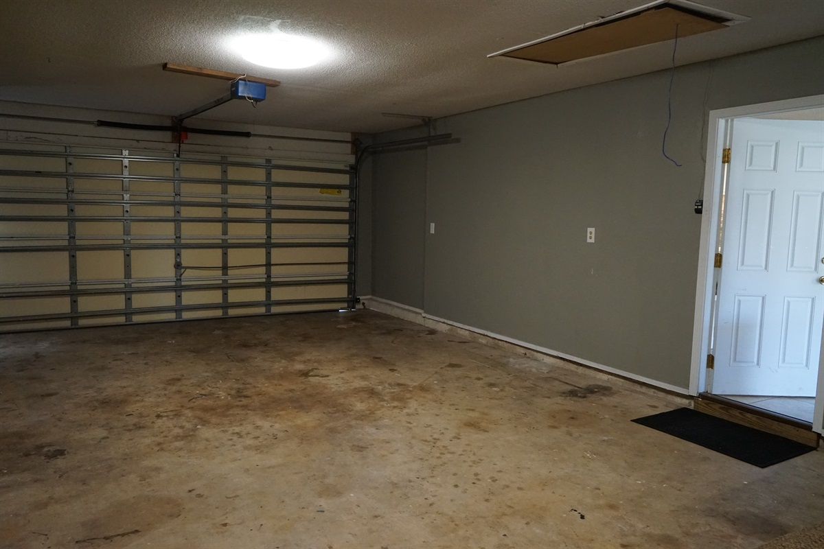 Double car garage w/2 remotes for secure storage or parking,