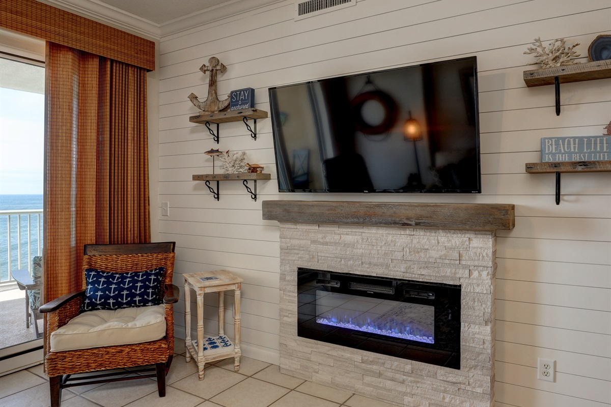 Fireplace for cool nights